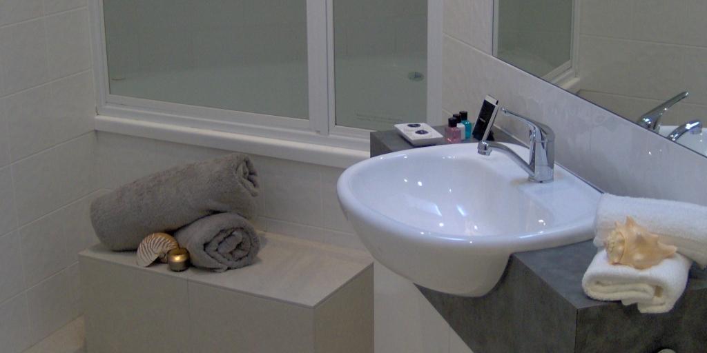 Bathroom: Shells Apartments