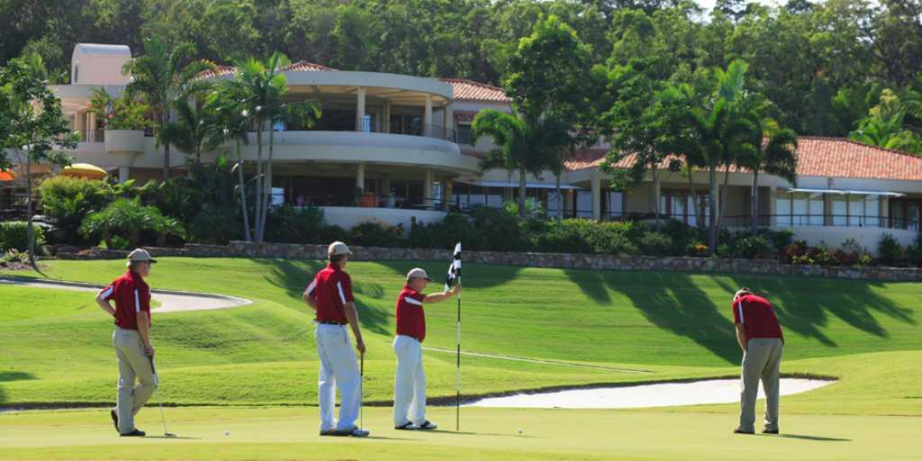 Golfers at Noosa Springs GC