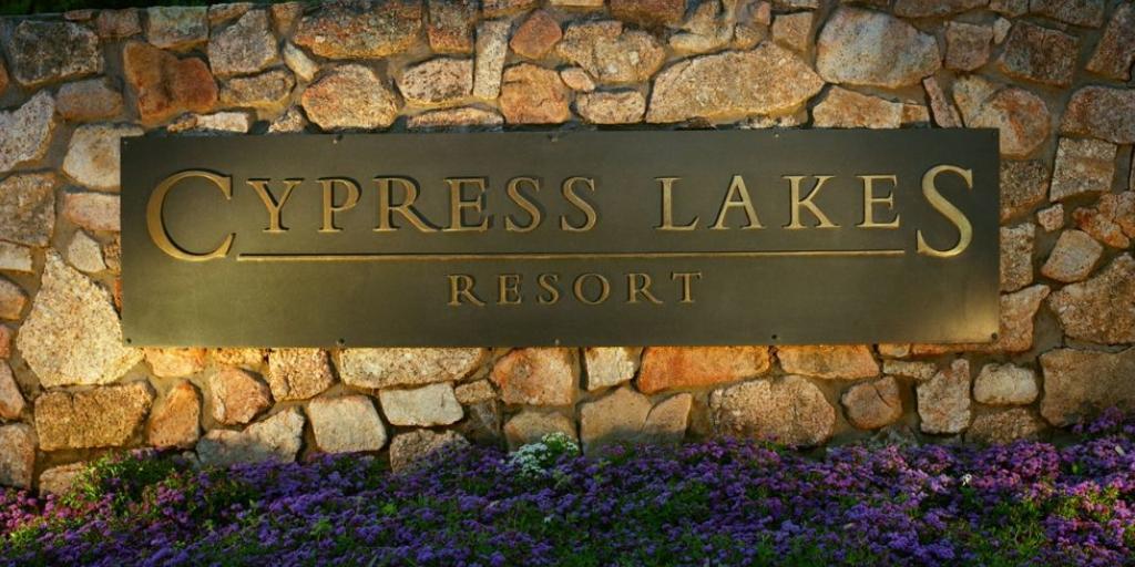 Entrance: Cypress Lakes Resort