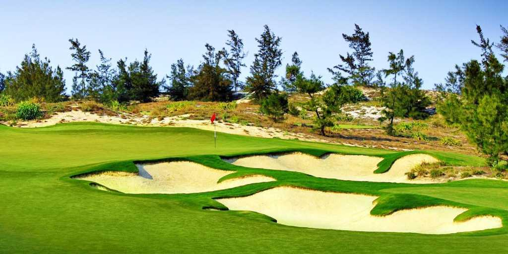 Bunkers on the 12th at Danang GC